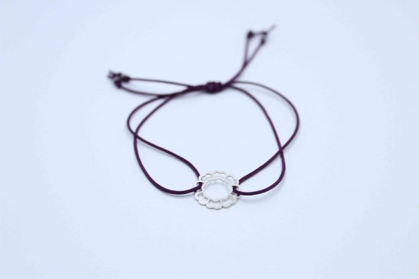 دستبند نقره کد A130 بند ساده