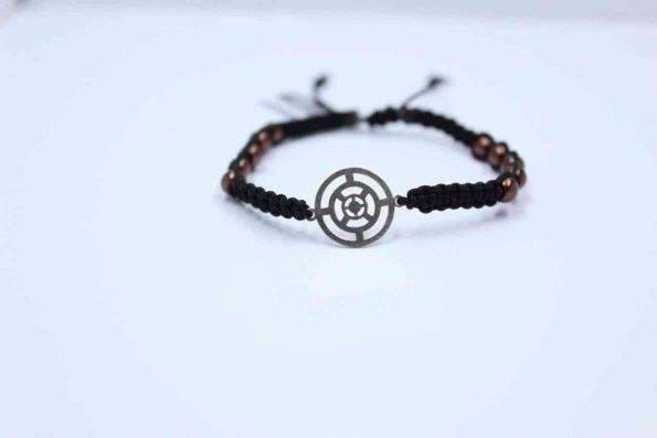 دستبند نقره کد A142 بند با سنگ