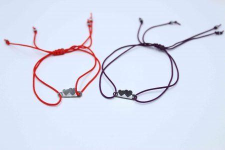 دستبند نقره کد A582 بند ساده