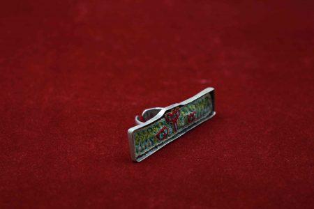 انگشتر نقره مستطیل با پته R1501